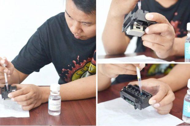 Cara menggunakan head cleaner